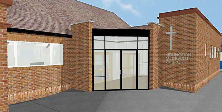 artist's impression of new entrance